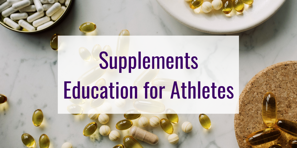 Supplements Education for Athletes