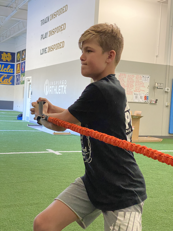 youth athlete training at inspired athletx in plymouth minnesota